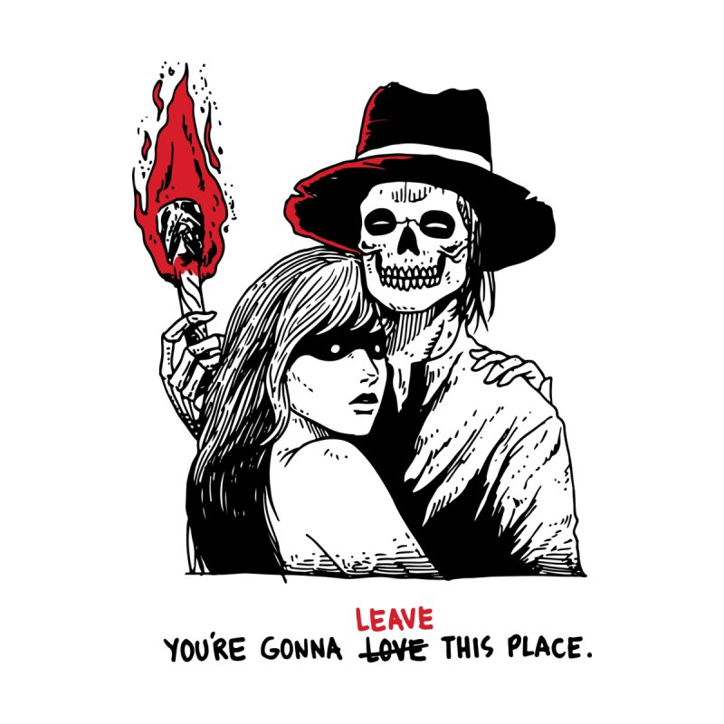 You're Gonna Leave This Place by skullpel illustrations's Artist Shop