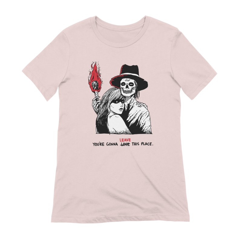 You're Gonna Leave This Place Women's Extra Soft T-Shirt by skullpel illustrations's Artist Shop