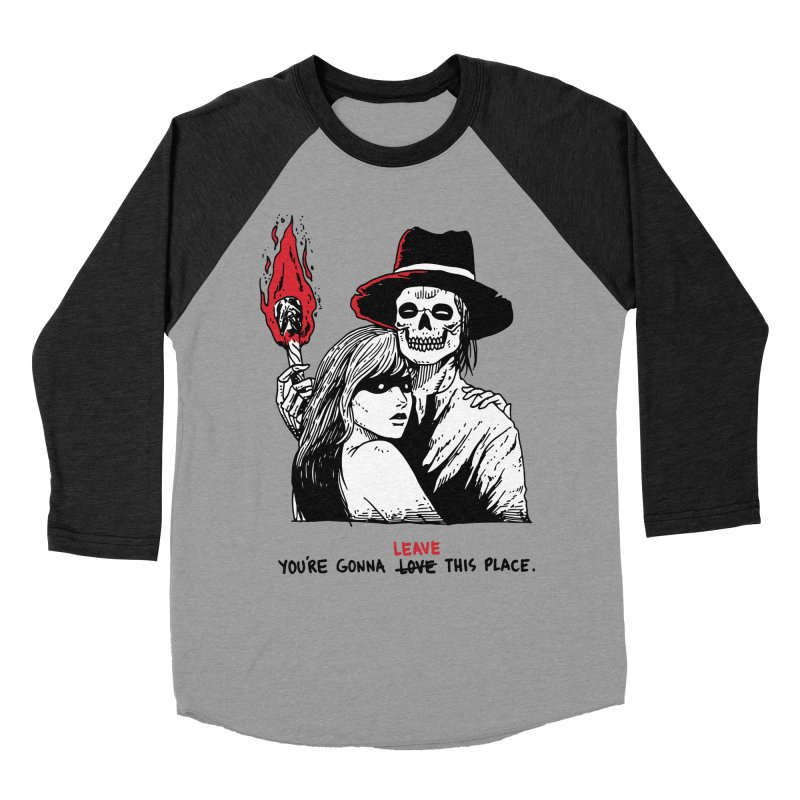 You're Gonna Leave This Place Men's Baseball Triblend Longsleeve T-Shirt by skullpel illustrations's Artist Shop