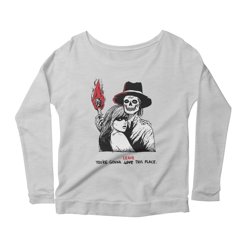 You're Gonna Leave This Place Women's Scoop Neck Longsleeve T-Shirt by skullpel illustrations's Artist Shop