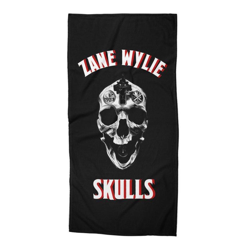 War Chaplain Red 3D Accessories Beach Towel by skullprops's Artist Shop