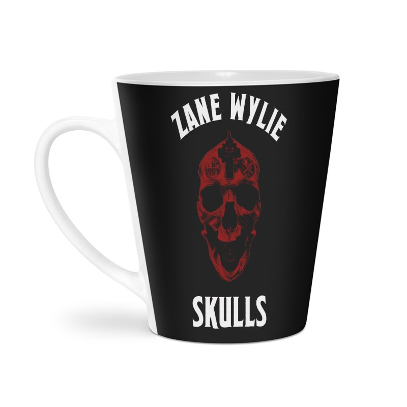 Red Chaplain Banner Accessories Latte Mug by skullprops's Artist Shop