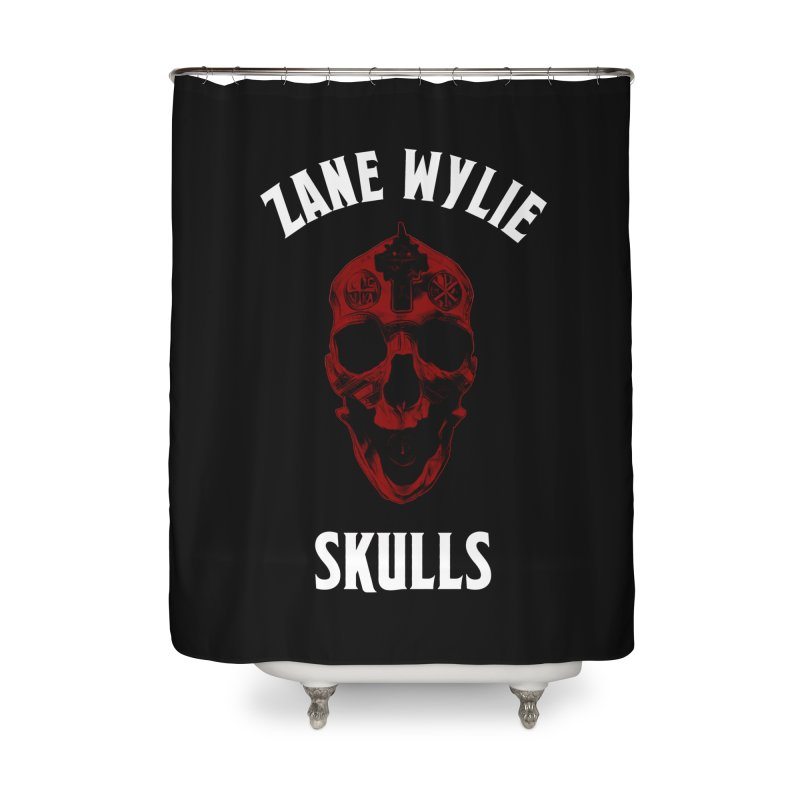 Red Chaplain Banner Home Shower Curtain by skullprops's Artist Shop