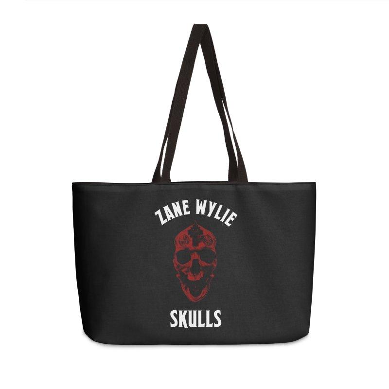 Red Chaplain Banner Accessories Weekender Bag Bag by skullprops's Artist Shop