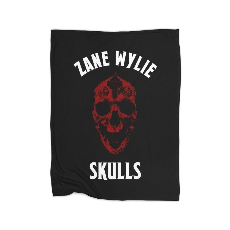 Red Chaplain Banner Home Fleece Blanket Blanket by skullprops's Artist Shop