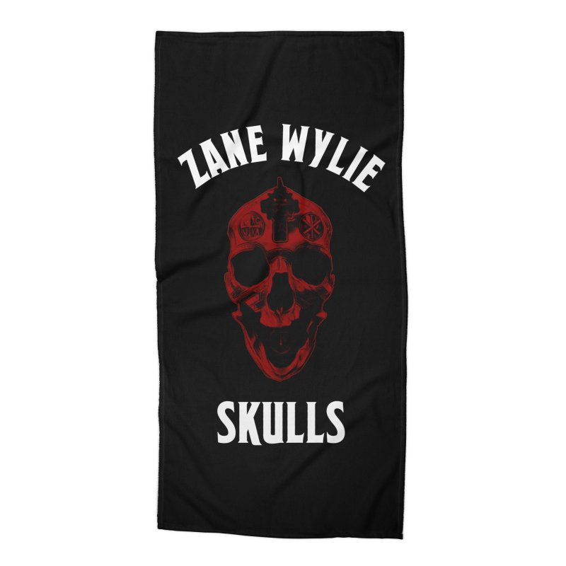 Red Chaplain Banner Accessories Beach Towel by skullprops's Artist Shop