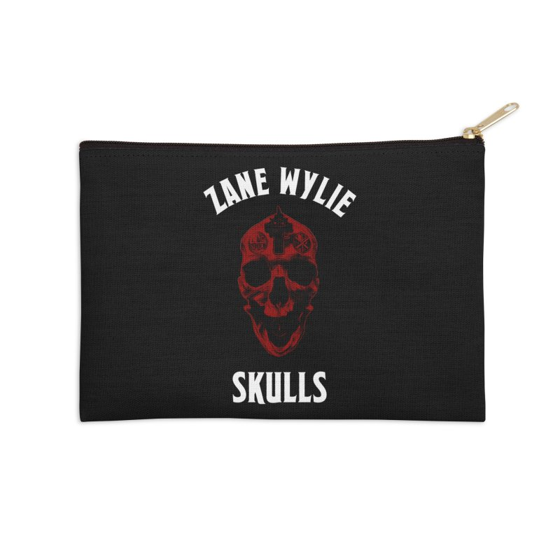 Red Chaplain Banner Accessories Zip Pouch by skullprops's Artist Shop