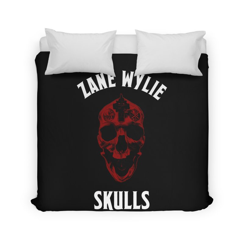 Red Chaplain Banner Home Duvet by skullprops's Artist Shop