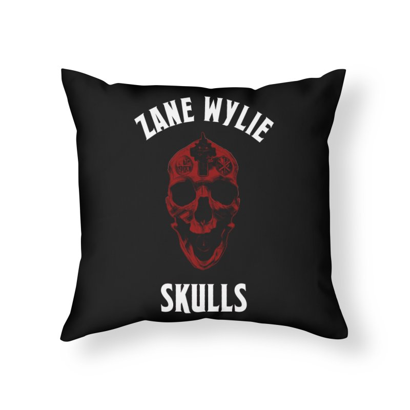 Red Chaplain Banner Home Throw Pillow by skullprops's Artist Shop