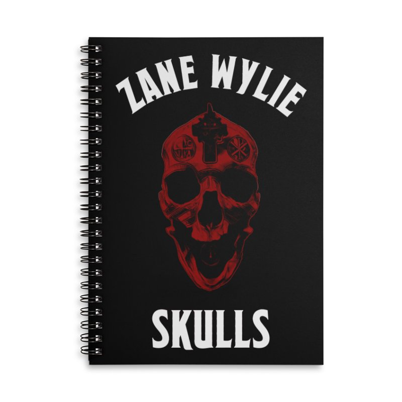 Red Chaplain Banner Accessories Lined Spiral Notebook by skullprops's Artist Shop