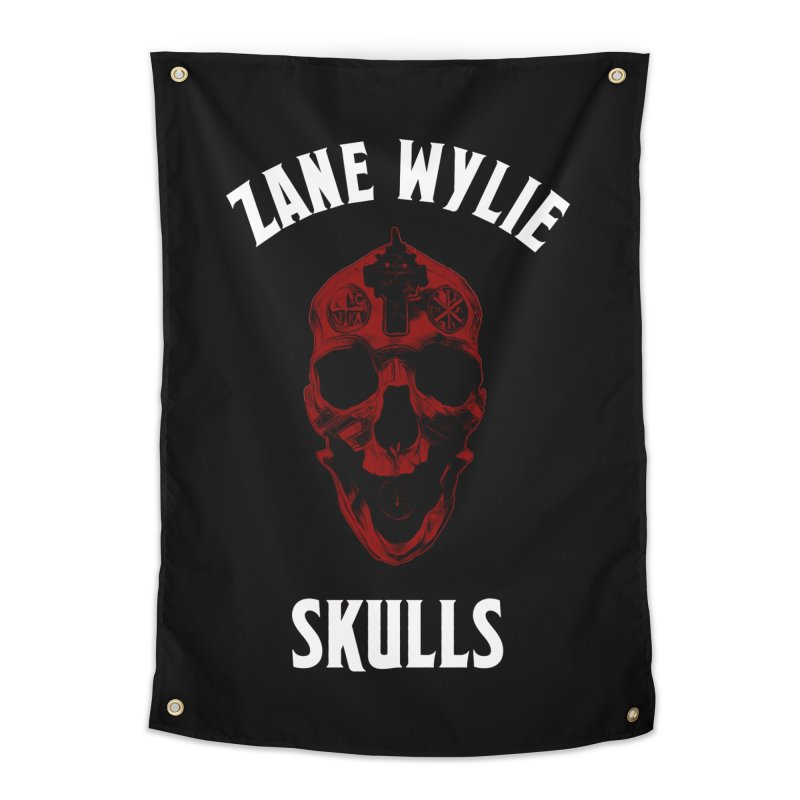 Red Chaplain Banner Home Tapestry by skullprops's Artist Shop