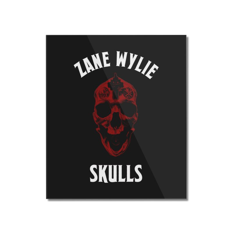 Red Chaplain Banner Home Mounted Acrylic Print by skullprops's Artist Shop