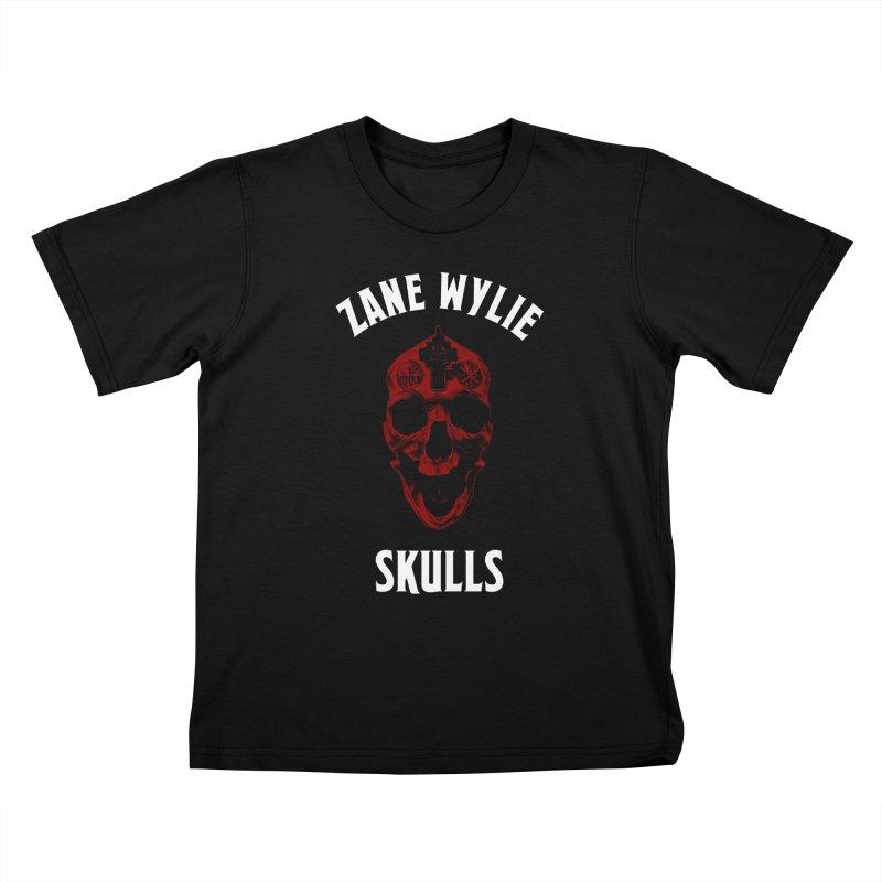 Red Chaplain Banner Kids T-Shirt by skullprops's Artist Shop