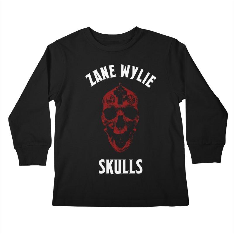 Red Chaplain Banner Kids Longsleeve T-Shirt by skullprops's Artist Shop