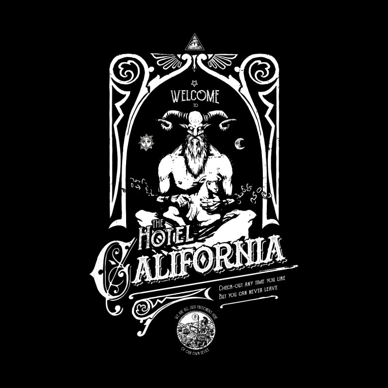 Hotel California Home Tapestry by Skulls Society