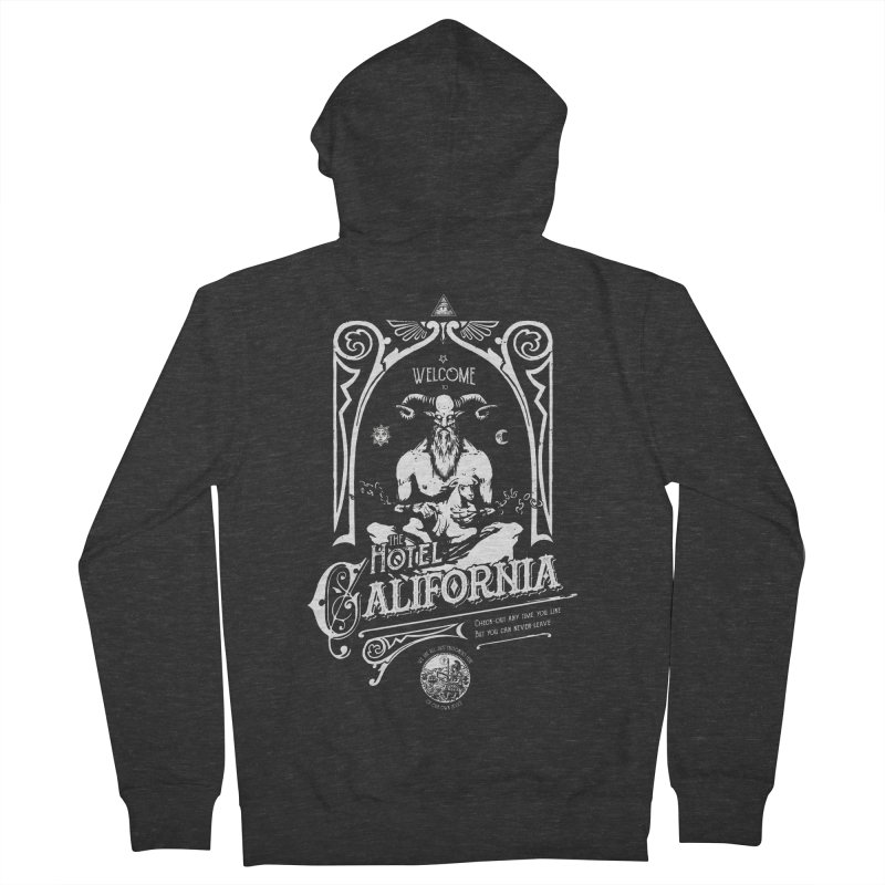 Hotel California Men's French Terry Zip-Up Hoody by Skulls Society