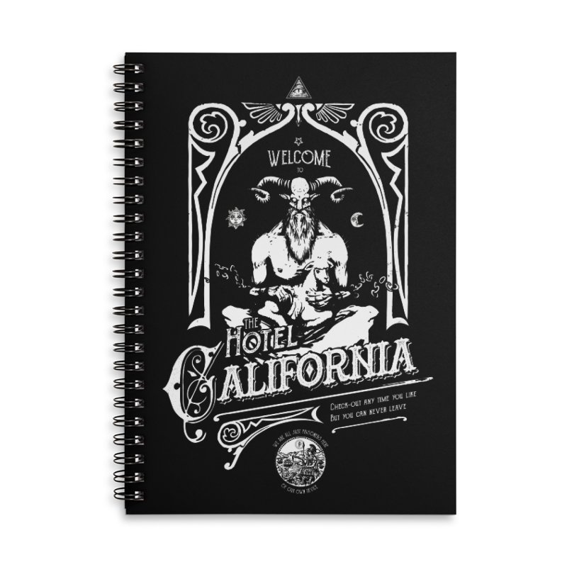Hotel California Accessories Lined Spiral Notebook by Skulls Society