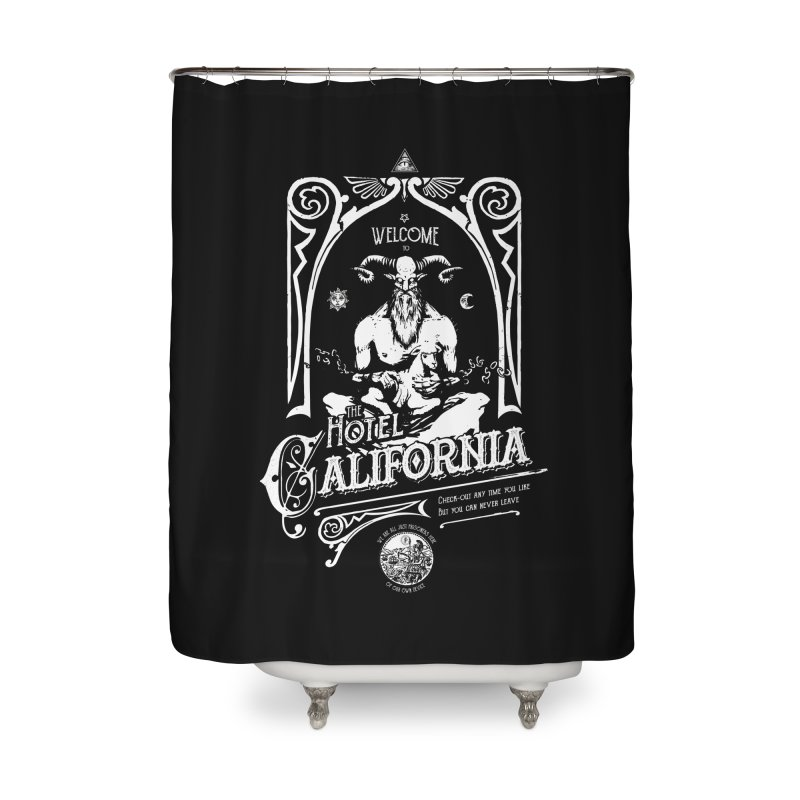 Hotel California Home Shower Curtain by Skulls Society