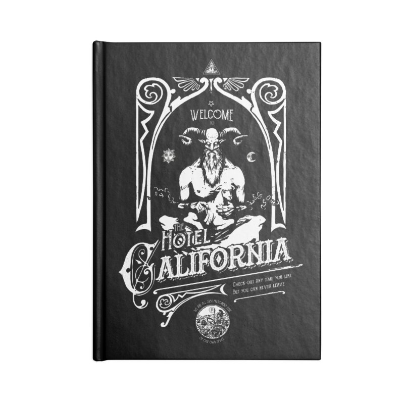 Hotel California Accessories Blank Journal Notebook by Skulls Society