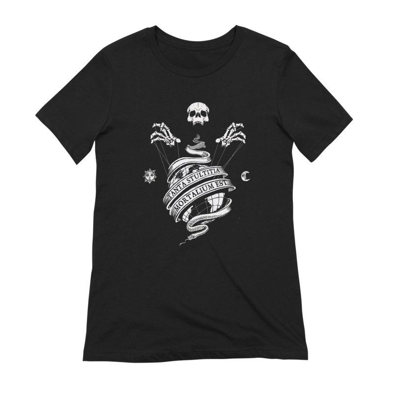 Foolishness of Mortals Women's Extra Soft T-Shirt by Skulls Society