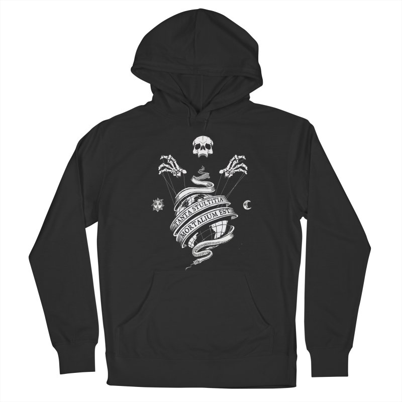 Foolishness of Mortals Women's French Terry Pullover Hoody by Skulls Society
