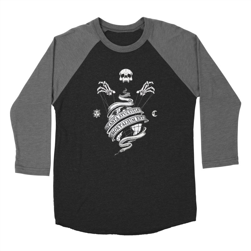 Foolishness of Mortals Women's Baseball Triblend Longsleeve T-Shirt by Skulls Society