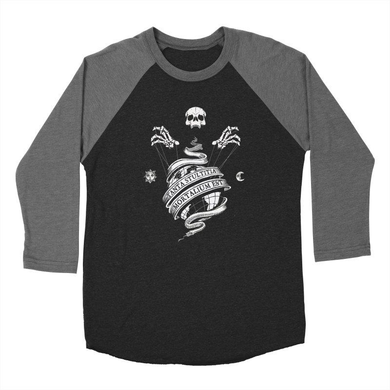 Foolishness of Mortals Men's Baseball Triblend Longsleeve T-Shirt by Skulls Society