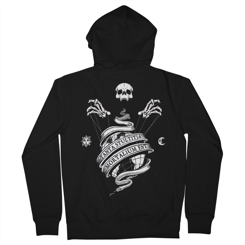 Foolishness of Mortals Women's French Terry Zip-Up Hoody by Skulls Society