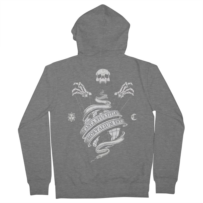 Foolishness of Mortals Men's French Terry Zip-Up Hoody by Skulls Society