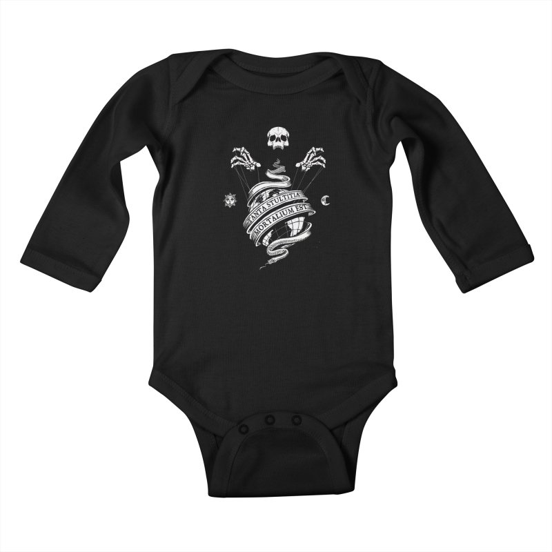 Foolishness of Mortals Kids Baby Longsleeve Bodysuit by Skulls Society
