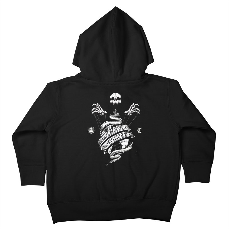 Foolishness of Mortals Kids Toddler Zip-Up Hoody by Skulls Society
