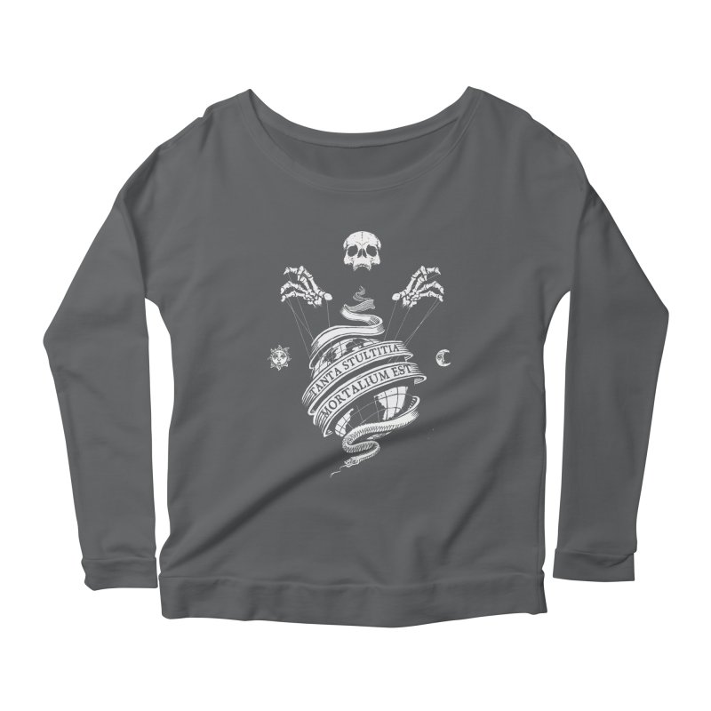 Foolishness of Mortals Women's Scoop Neck Longsleeve T-Shirt by Skulls Society