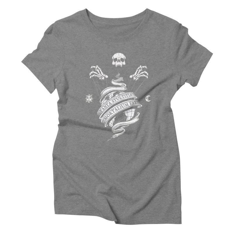 Foolishness of Mortals Women's Triblend T-Shirt by Skulls Society