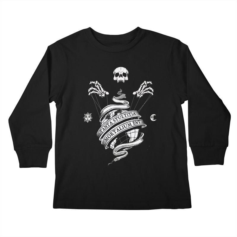 Foolishness of Mortals Kids Longsleeve T-Shirt by Skulls Society