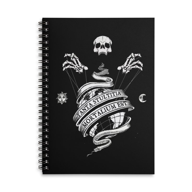 Foolishness of Mortals Accessories Lined Spiral Notebook by Skulls Society