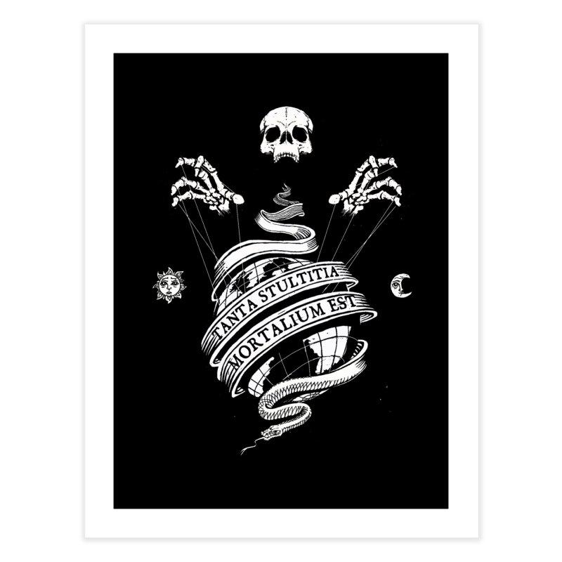 Foolishness of Mortals Home Fine Art Print by Skulls Society