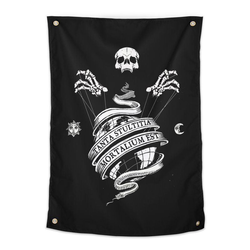Foolishness of Mortals Home Tapestry by Skulls Society