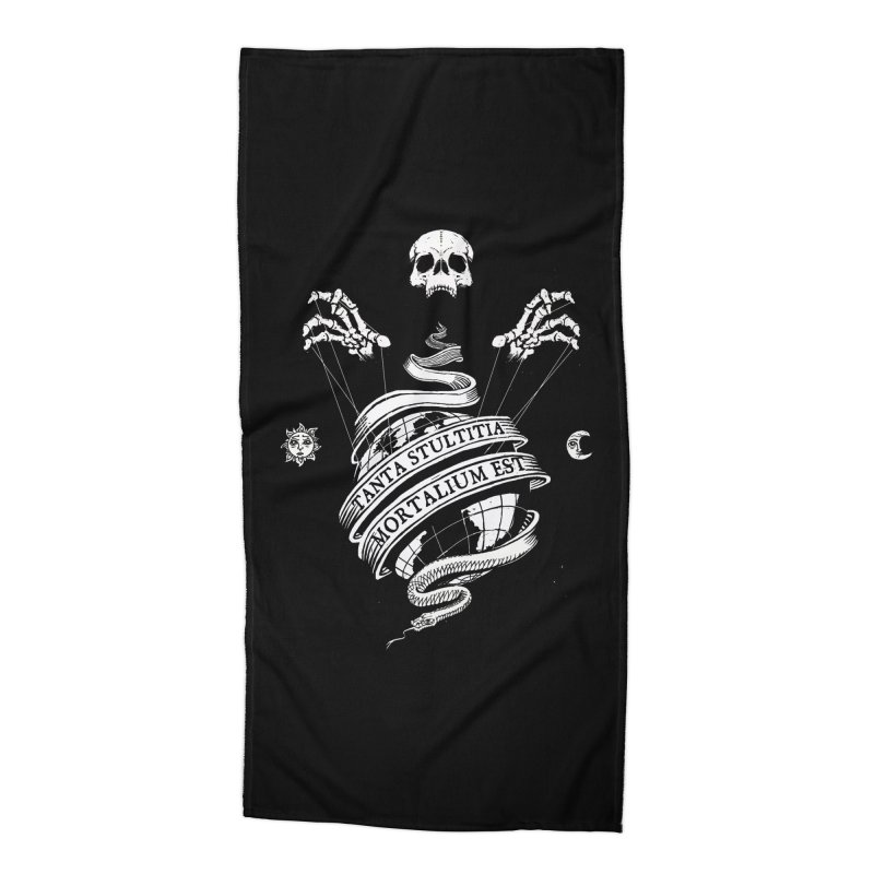 Foolishness of Mortals Accessories Beach Towel by Skulls Society