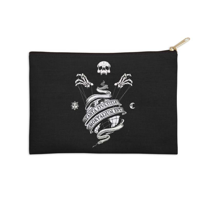 Foolishness of Mortals Accessories Zip Pouch by Skulls Society
