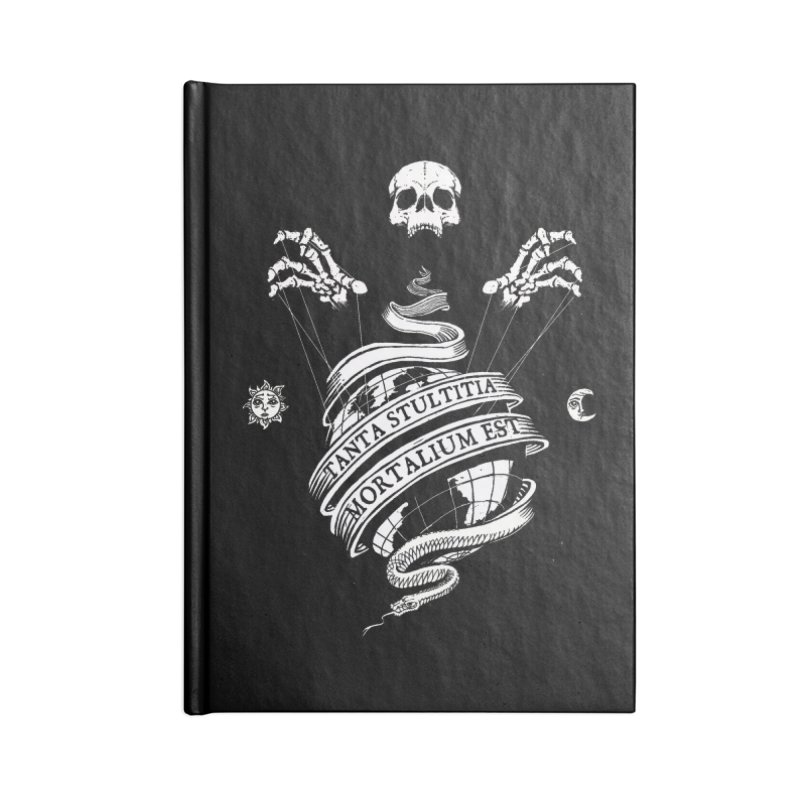 Foolishness of Mortals Accessories Lined Journal Notebook by Skulls Society