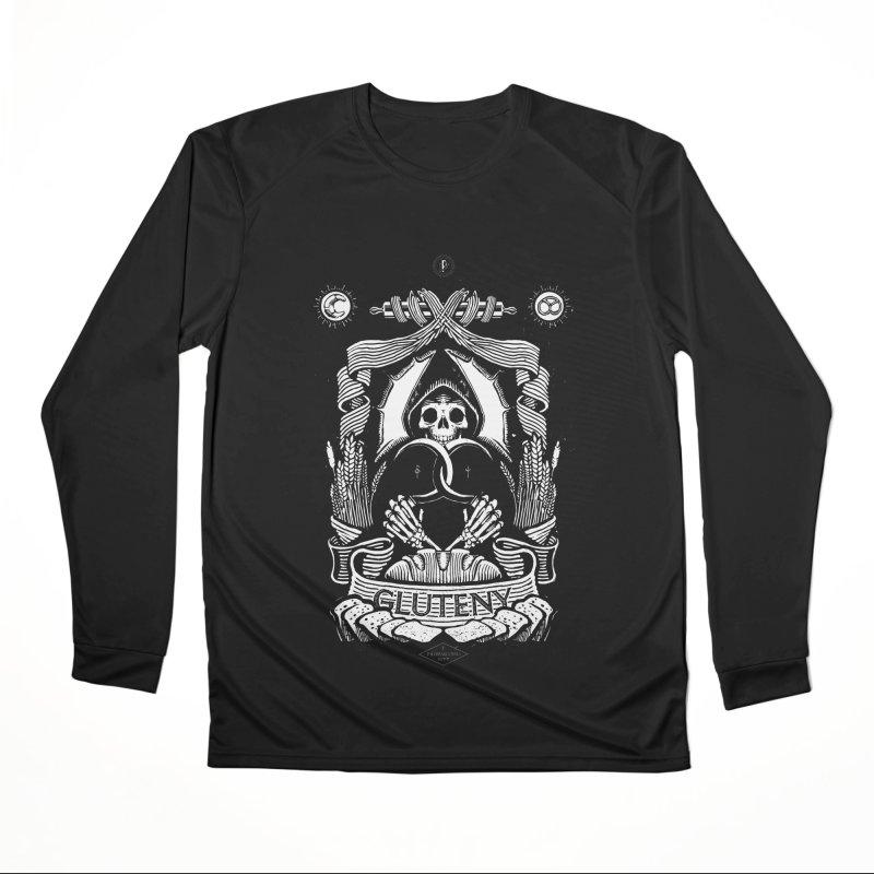 Gluteny Women's Performance Unisex Longsleeve T-Shirt by Skulls Society