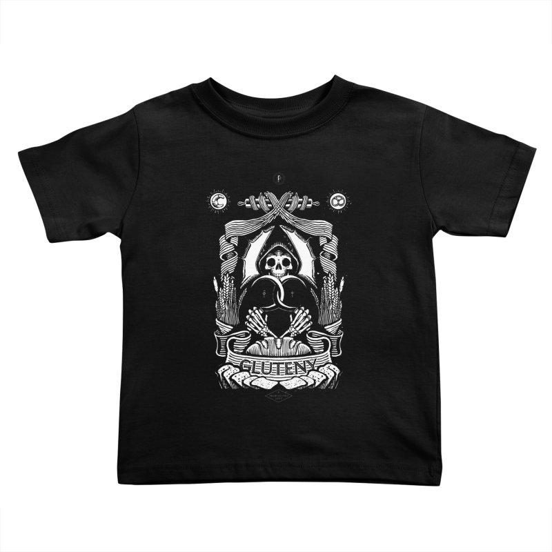 Gluteny Kids Toddler T-Shirt by Skulls Society