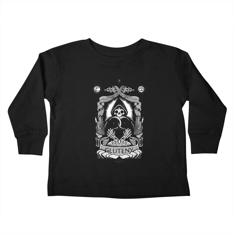 Gluteny Kids Toddler Longsleeve T-Shirt by Skulls Society