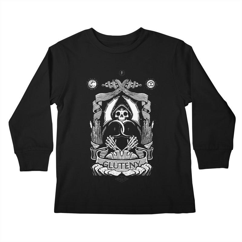 Gluteny Kids Longsleeve T-Shirt by Skulls Society