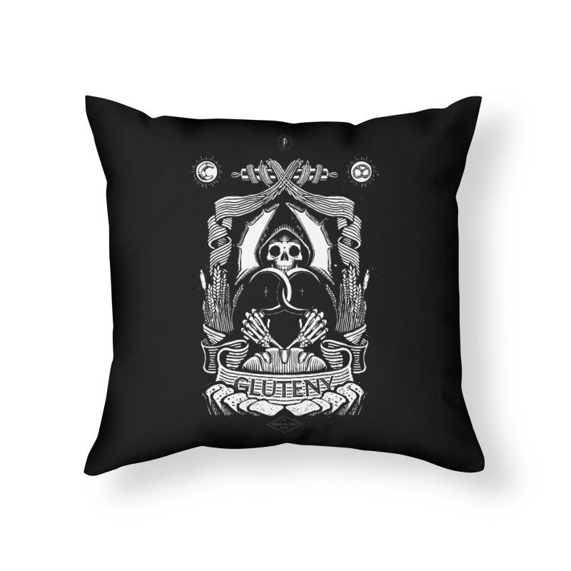 Gluteny Home Throw Pillow by Skulls Society