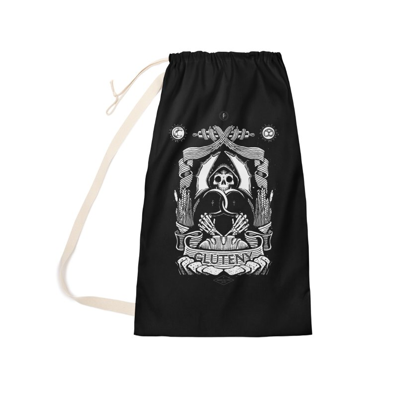 Gluteny Accessories Laundry Bag Bag by Skulls Society