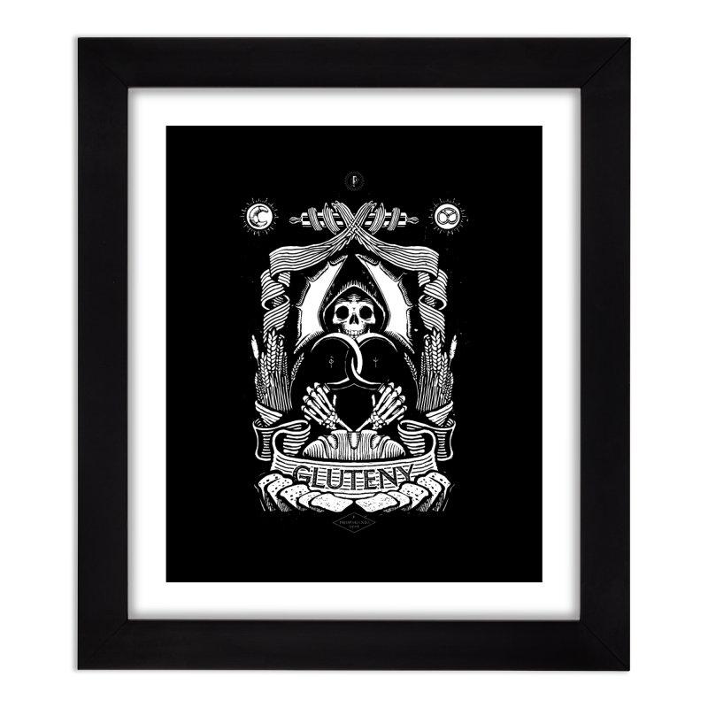 Gluteny Home Framed Fine Art Print by Skulls Society