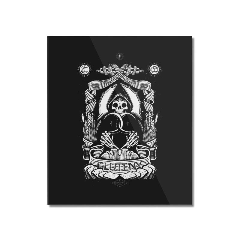 Gluteny Home Mounted Acrylic Print by Skulls Society