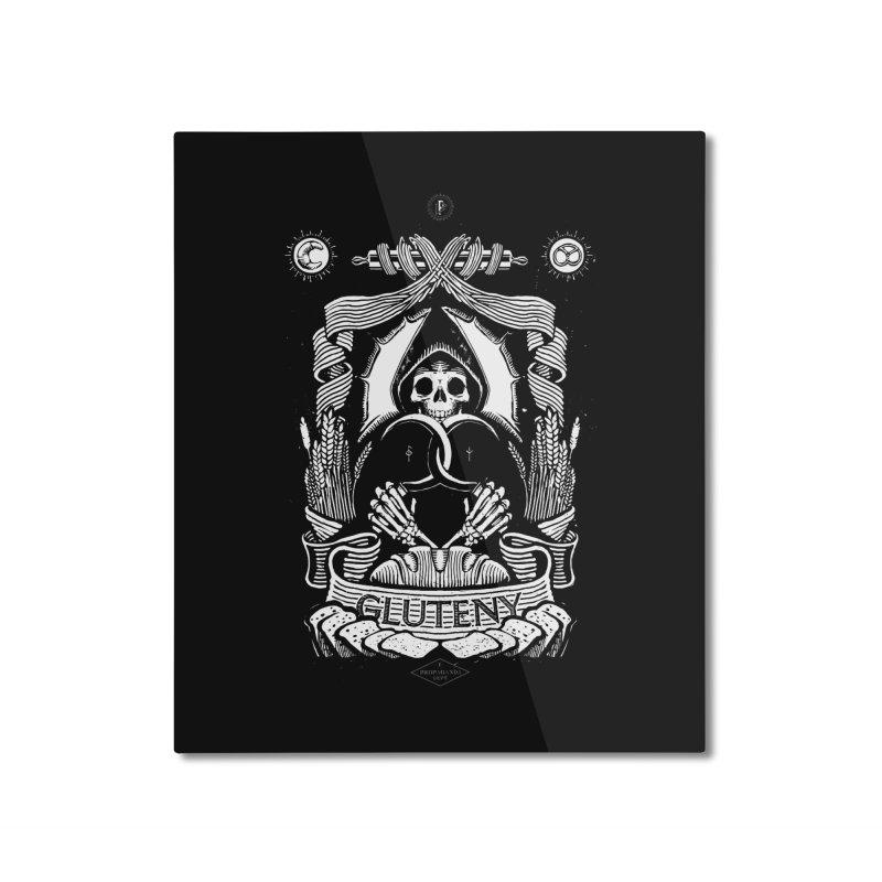 Gluteny Home Mounted Aluminum Print by Skulls Society