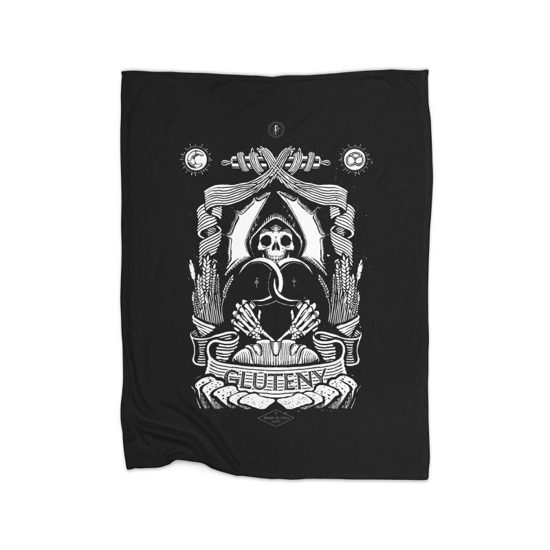 Gluteny Home Blanket by Skulls Society